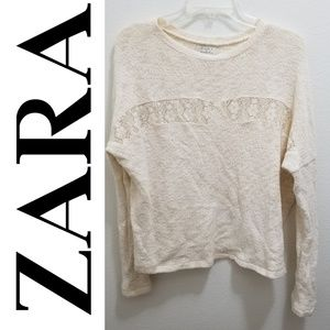 ZARA Trafaluc Cream Top